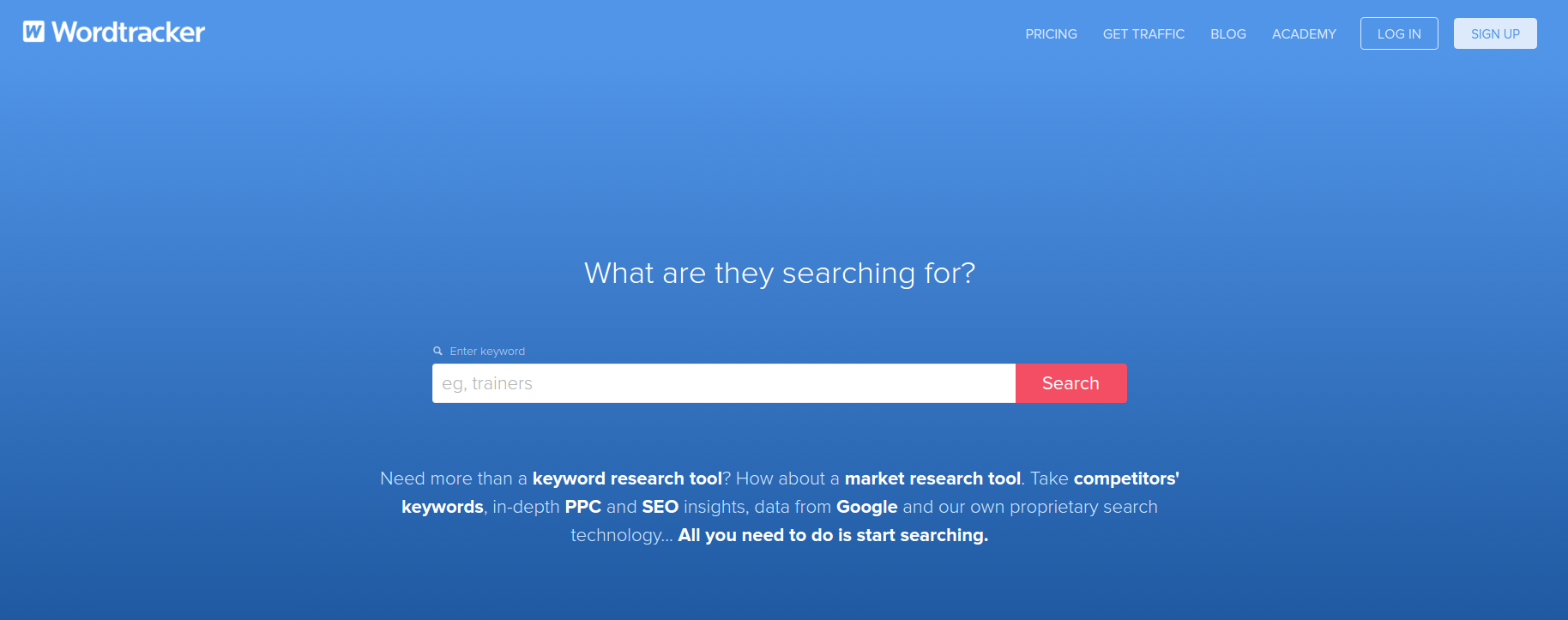 Wordtracker Free Keyword Research Tool