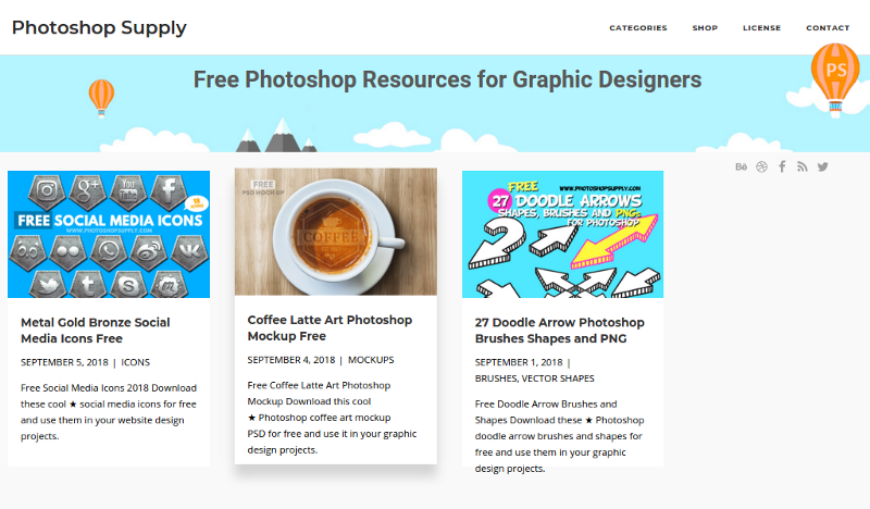 Photoshop Supply - Free Photoshop Resources For Graphic Designers